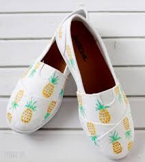 Diy Shoes Design Diy Painted Pineapple Shoes