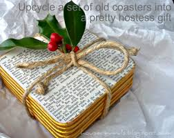 Hostess Gift House Revivals Make A Pretty Hostess Gift From Upcycled Coasters
