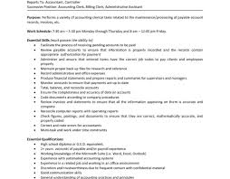 Data Entry Job Description For Resume Resume Examples Accountant Objective Accounting Example For 44