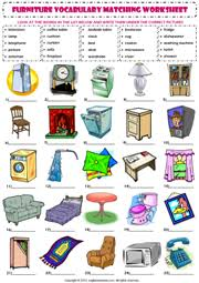 bedroom furniture names in english. Brilliant Names Furniture Matching Exercise ESL Vocabulary Worksheet In Bedroom Names English E