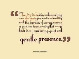 Volunteer Quotes Beauteous Joy In Hospice Volunteering Julie Engstrom Quote Windows Within