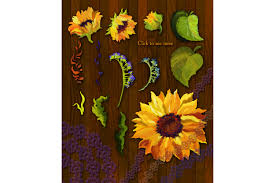 golden sunflower oil painting example image 2