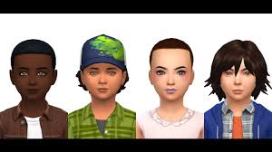 The sims 4 - Stranger things - Mike, Dustin, Lucas & Eleven - YouTube