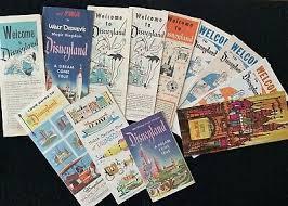 Pamphlet And Brochure Vintage Disneyland Brochure Pamphlet Collection Original
