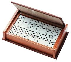 antique dominoes in wooden box designs