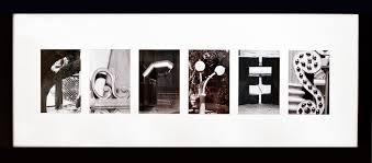 framed letter art