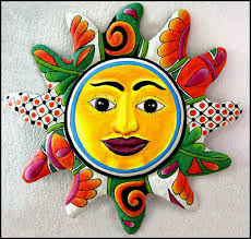 >metal art metal wall art sun design 24 hand painted description metal sun metal art metal wall