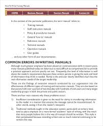 user manual template instruction manual template 10 free word pdf documents download