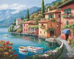villagio dal lago painting sung kim villagio dal lago art painting