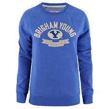 Campus Crew Size Chart Womens Brigham Young University Oval Y Sweater Campus Crew