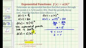 ex find an exponential function given two points initial value not given you