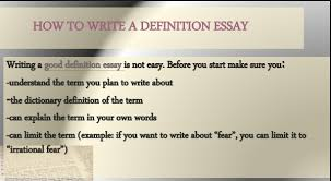 Example Of Definition Essay Topics How To Write A Definition Essay Ideas Examples Structure Example