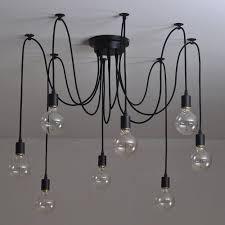 Lightess 10 Lichter Loft Kreative Kronleuchter Antik