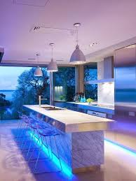 Awesome Blue Led Lights In The Kitchen Design Under Kitchen Island Also  Pendant Lamps Idea As
