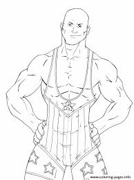 Small Picture Wrestling Star WWE Coloring pages Printable