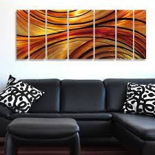 large modern abstract metal wall art