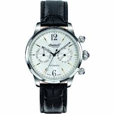 ingersoll in8009sl watch british watch company ingersoll men 039 s outlaw leather strap automatic watch