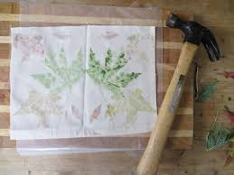 prints hint hammers work better than mallets for fall leaves for juicy leaves like tomato plants and