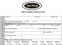 benefits of printing out the yard house application waitress application