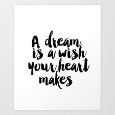 A Dream Is A Wish Your Heart Makes Quote Best of Printable A Dream Is A Wish Your Heart Makes Wall Art Nursery