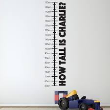 Personalised Height Chart Personalised Height Chart Wall Sticker