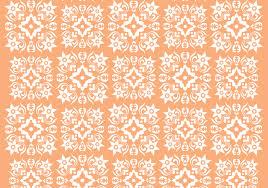 Retro Oranje Ornament Vector Patroon Download Gratis Vectorkunst
