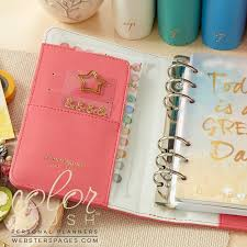 Websters Pages Color Crush Light Pink Planner Kit Personal