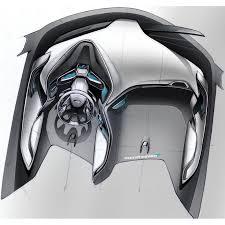 Concept car automotive interior design sketch illustration