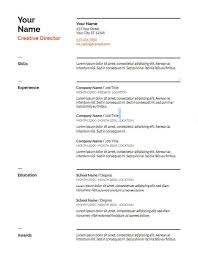 Resume Templates Google Docs Magnificent 28 Google Docs Resume Template To Ace Your Next Interview
