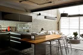 Loft Kitchen Industrial Chic Loft Features The Ideal Match Between Comfort And