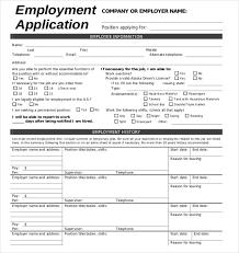 Employment Application Form Template Under Fontanacountryinn Com