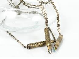 diy etched bullet necklaces rings and