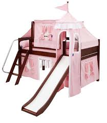 Quick View  Princess Castle Bed with Slide by Maxtrix Kids pinkwhite  370