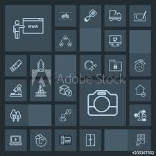 Modern Simple Dark Vector Icon Set With Boat Internet