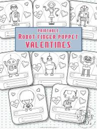 Printable Robot Finger Puppet Valentines Its A Mother Thing