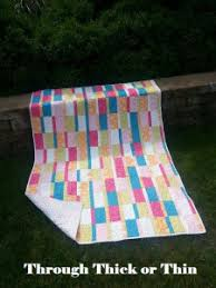 A fast and fun quilt! Thick or Thin by SleepingCatCreations ... & A fast and fun quilt! Thick or Thin by SleepingCatCreations Adamdwight.com