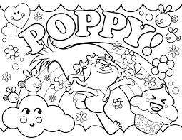 Trolls Poppy Coloring Pages Printable And