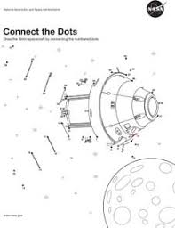 EP 2014 07 005 JSC Orion Connect the Dots orion activities and coloring sheets for kids nasa on space worksheets for kids