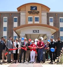 heritage inn suites holds ribbon cutting news the garden city telegram garden city ks