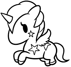 Marvelous coloring pages of baby unicorns coloring for cure. Baby Unicorn With Stars Coloring Page Coloring Rocks
