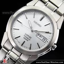 buy seiko quartz titanium sapphire crystal analog mens watch seiko quartz titanium sapphire crystal analog mens watch sgg727p1 sgg727