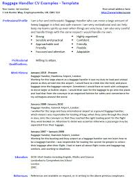 Baggage Handler Cv Example And Template Lettercv Com