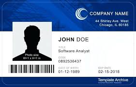 Free Template Microsoft Templates Employee Card Id Archive Badge Word Corporate