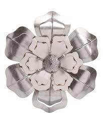 white metal flower wall art best