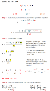 the quadratic formula is a great method for solving any quadratic equation these step by step examples and practice problems will guide you through the