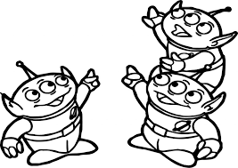 Small Picture Toy Story Alien Coloring Page Wecoloringpage Color Online 37495