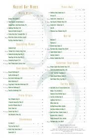 Free Wine List Template Download 26 Wine Menu Templates Free Sample Example Format Download