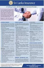 Sri Lanka Insurance Vacancies Government Jobs Government Gazette