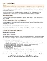 Mla Footnotes Summary Mla Modern Language Association