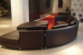 image of round leather sofa 1610